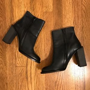 Black leather See by Chloe ankle boots